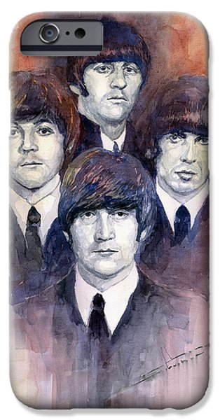 Musicians iPhone 6s Case - The Beatles 02 by Yuriy Shevchuk