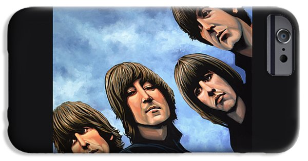 Musicians iPhone 6s Case - The Beatles Rubber Soul by Paul Meijering