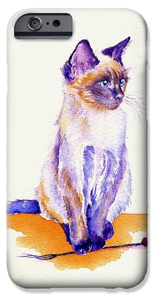 Cat iPhone 6s Case - The Catmint Mouse Hunter by Debra Hall
