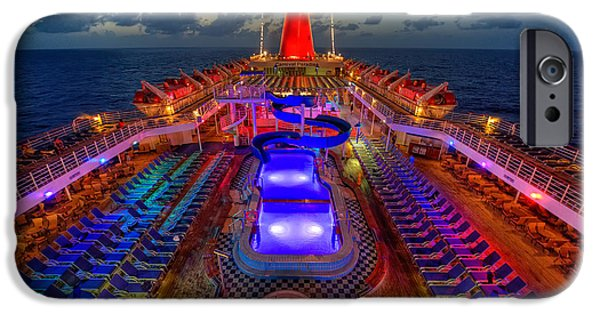 Cruise Ship iPhone 6s Case - The Cruise Lights At Night by Michael Ver Sprill