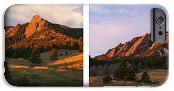 The Flatirons - Four Seasons Panorama IPhone 6s Case by Aaron Spong