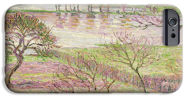 Impressionism iPhone 6s Case - The Flood At Eragny by Camille Pissarro