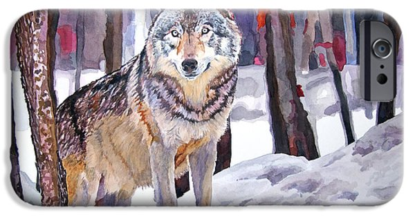Wolf iPhone 6s Case - The Lone Wolf by David Lloyd Glover