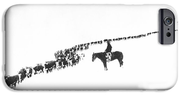 Rural Scenes iPhone 6s Case - The Long Long Line by Underwood Archives  Charles Belden