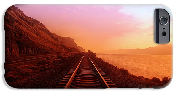 Train iPhone 6s Case - The Long Walk To No Where  by Jeff Swan