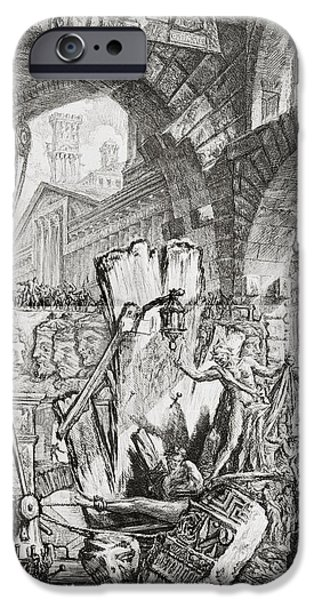 The Man On The Rack Plate II From Carceri D'invenzione IPhone 6s Case by Giovanni Battista Piranesi