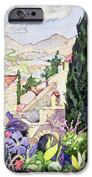The Old Town Vaison IPhone Case by Julia Gibson
