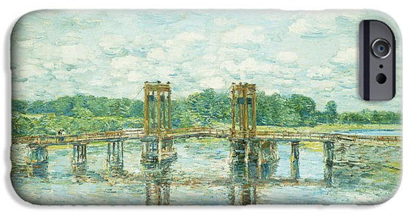 The Toll Bridge New Hampshire IPhone Case by Childe Hassam