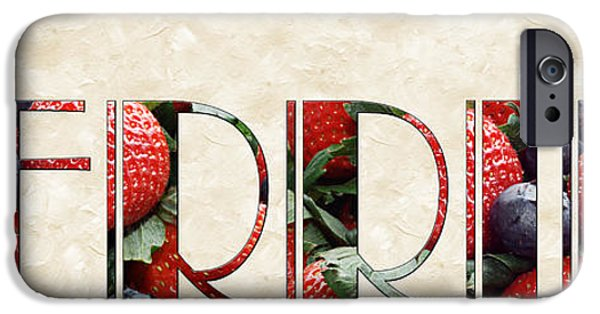 The Word Is Berries  IPhone 6s Case by Andee Design