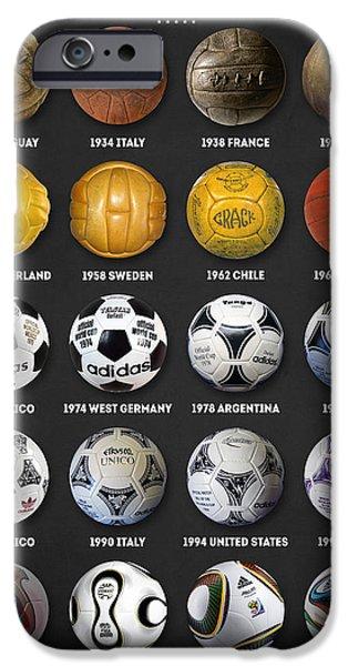 Pele iPhone 6s Case - The World Cup Balls by Taylan Apukovska