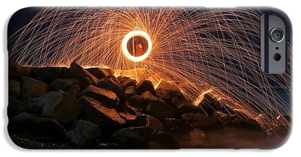 iPhone 6s Case - This Is A Shot Of Me Spinning Burning by Larry Marshall