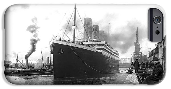 Cruise Ship iPhone 6s Case - Titanic In Southampton Harbor by Daniel Hagerman