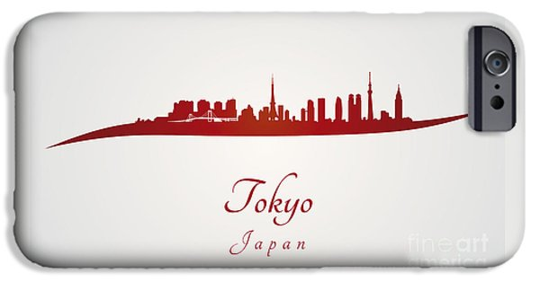 Tokyo Skyline In Red IPhone 6s Case