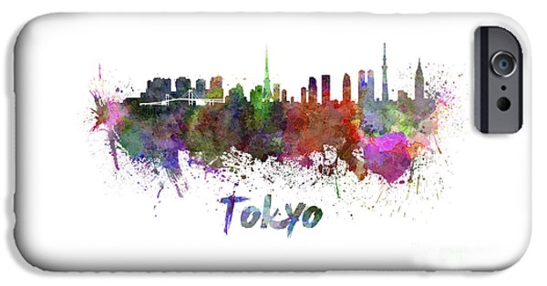Tokyo Skyline In Watercolor IPhone 6s Case by Pablo Romero