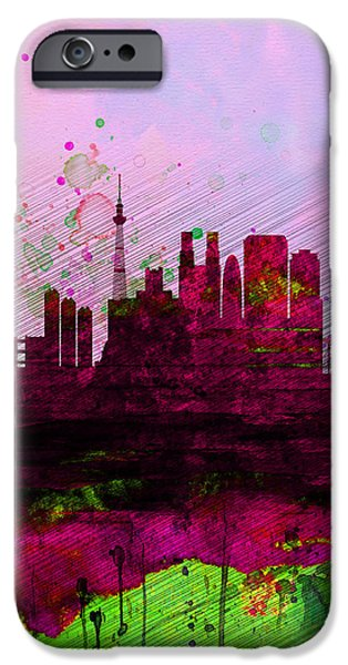 Tokyo Watercolor Skyline IPhone 6s Case by Naxart Studio