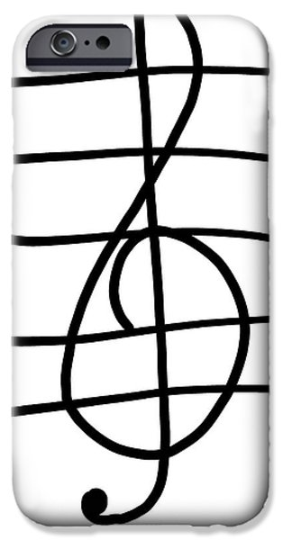 Treble Clef IPhone 6s Case by Jada Johnson