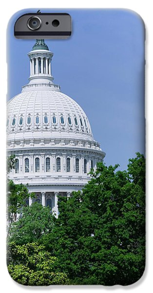 Capitol Building iPhone 6s Case - Trees In Spring And U.s. Capitol Dome by Panoramic Images