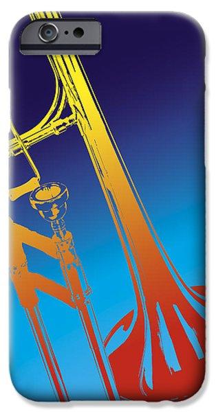 Trombone iPhone 6s Case - Trombone by Daniel Troy