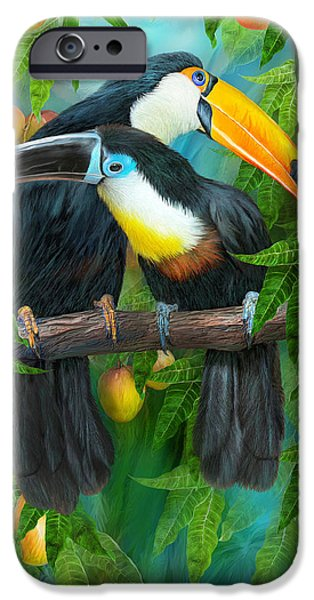Tropic Spirits - Toucans IPhone 6s Case by Carol Cavalaris