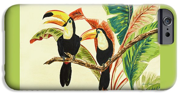 Toucan iPhone 6s Case - Tropical Toucans I by Linda Baliko