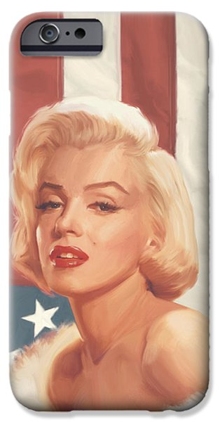 True Blue Marilyn In Flag IPhone 6s Case by Chris Consani