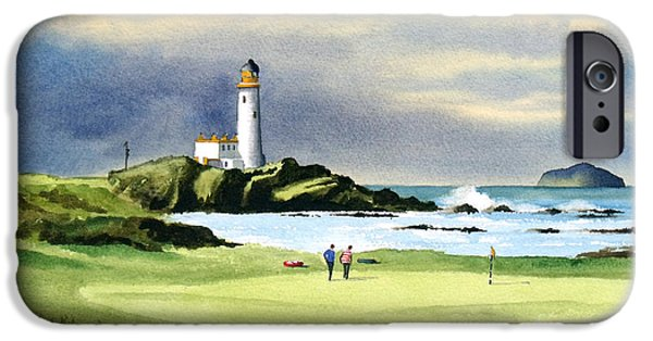 Turnberry Golf Course Scotland 10th Green IPhone 6s Case by Bill Holkham