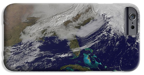 Two Low Pressure Systems Merging IPhone Case by Stocktrek Images