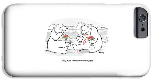 Two Polar Bears Eat Spaghetti And Meatballs.  One IPhone 6s Case