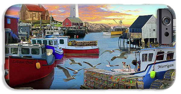 IPhone 6s Case featuring the drawing Uk Boat Cove by David M ( Maclean )