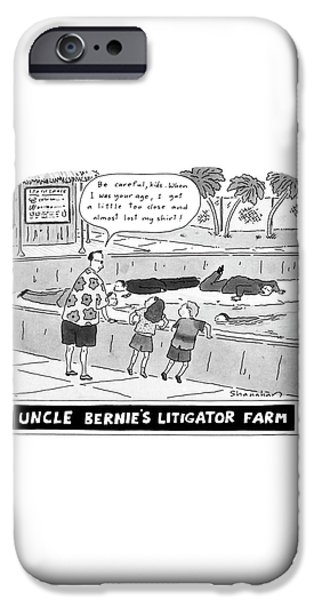 Alligator iPhone 6s Case - Uncle Bernie's Litigator Farm Be Careful by Danny Shanahan