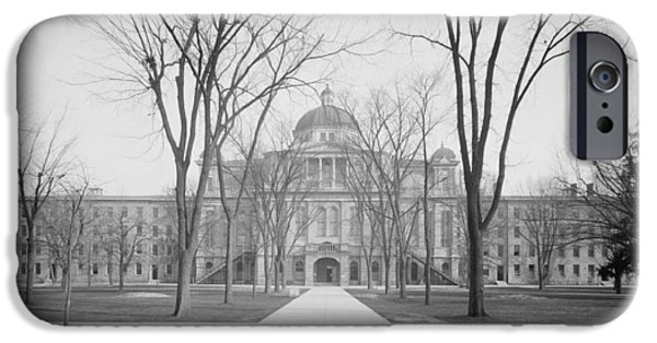 University Hall, University Of Michigan, C.1905 Bw Photo IPhone 6s Case by Detroit Publishing Co.