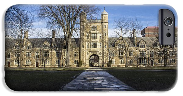 University Of Michigan iPhone 6s Case - University Of Michigan Campus by John McGraw