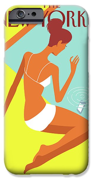 Swimming iPhone 6s Case - New Yorker August 9th, 2010 by Christoph Niemann