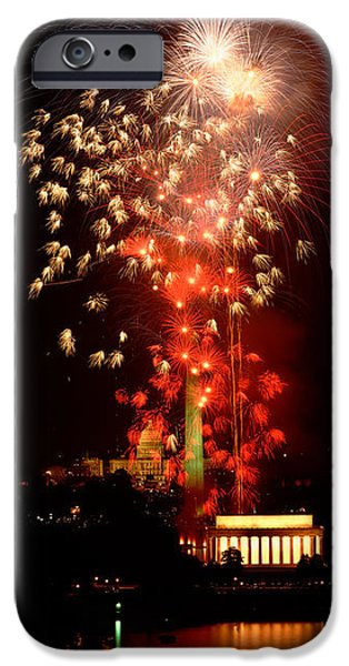 Capitol Building iPhone 6s Case - Usa, Washington Dc, Fireworks by Panoramic Images