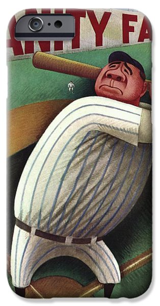 Vanity Fair Cover Featuring Babe Ruth IPhone 6s Case by Miguel Covarrubias
