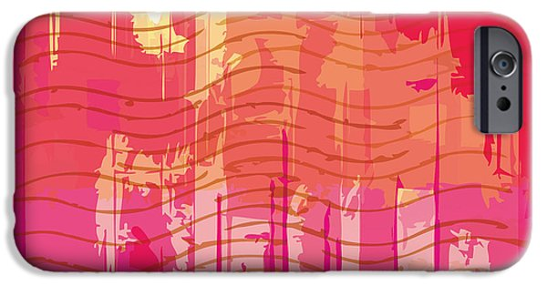 Space iPhone 6s Case - Vector Grunge Background With Space For by Iulias