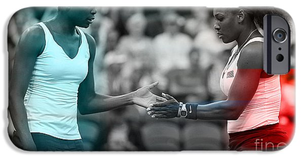 Serena Williams iPhone 6s Case - Venus Williams And Serena Williams by Marvin Blaine