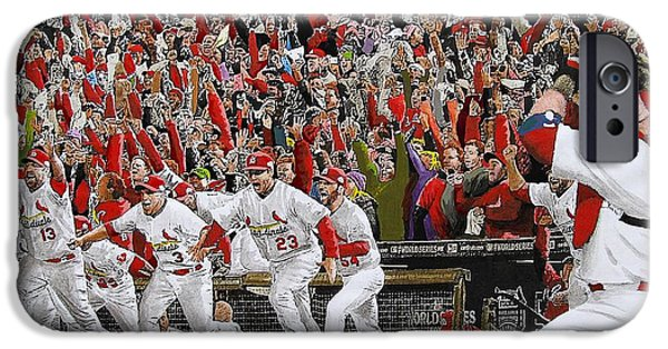 Contemporary Realism iPhone 6s Case - Victory - St Louis Cardinals Win The World Series Title - Friday Oct 28th 2011 by Dan Haraga