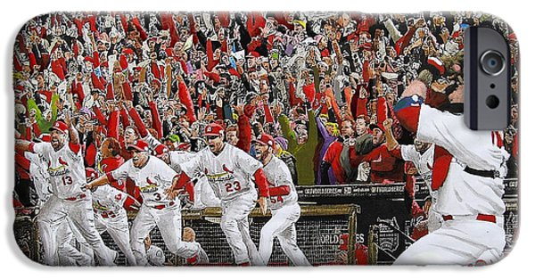 Baseball iPhone 6s Case - Victory - St Louis Cardinals Win The World Series Title - Friday Oct 28th 2011 by Dan Haraga