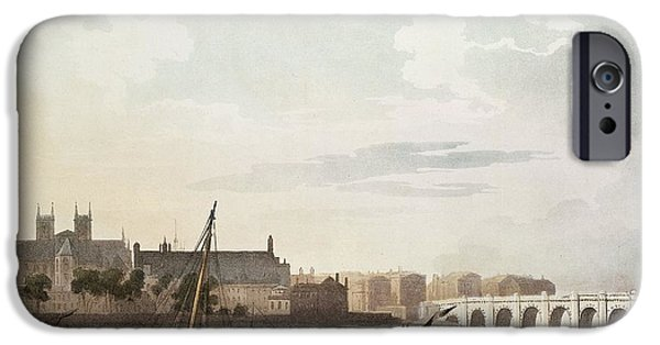 View Of Westminster And The Bridge Wc On Paper IPhone 6s Case by English School
