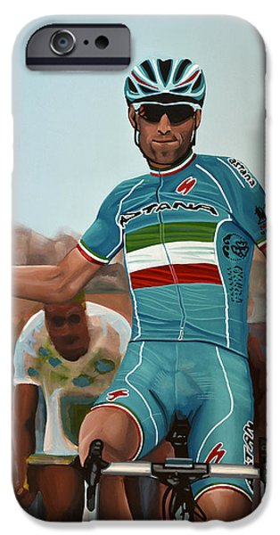 Vincenzo Nibali Painting IPhone 6s Case by Paul Meijering