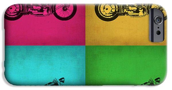 Motorcycle iPhone 6s Case - Vintage Bike Pop Art 1 by Naxart Studio