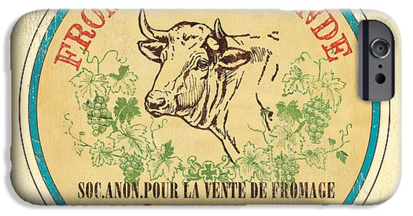 Cow iPhone 6s Case - Vintage Cheese Label 1 by Debbie DeWitt