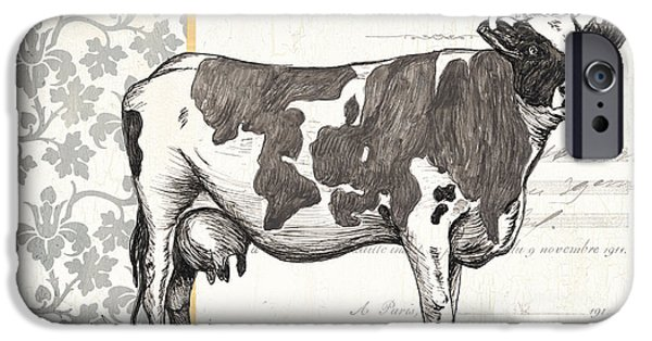 Cow iPhone 6s Case - Vintage Farm 1 by Debbie DeWitt
