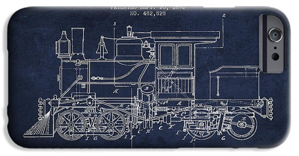 Train iPhone 6s Case - Vintage Locomotive Patent From 1892 by Aged Pixel