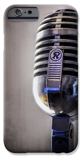 Jazz iPhone 6s Case - Vintage Microphone 2 by Scott Norris