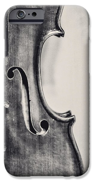 Violin iPhone 6s Case - Vintage Violin Portrait In Black And White by Emily Kay