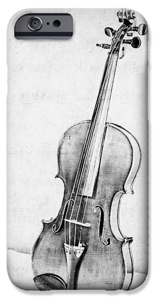 Violin iPhone 6s Case - Violin In Black And White by Emily Kay