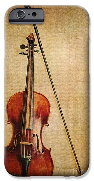 Violin iPhone 6s Case - Violin With Bow by Emily Kay