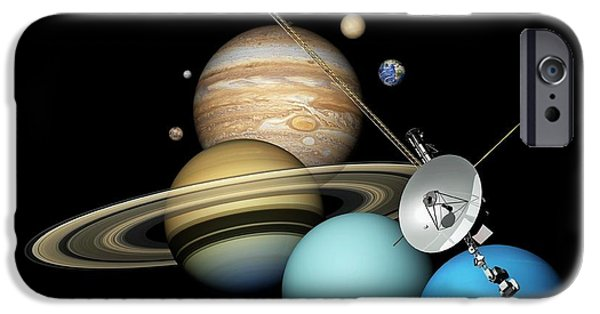 Voyager 2 And Planets IPhone 6s Case by Carlos Clarivan